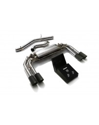 ARMYTRIX Stainless Steel Valvetronic Catback Exhaust System Quad Matte Black Tips Audi S3 8V Sportback 13-20