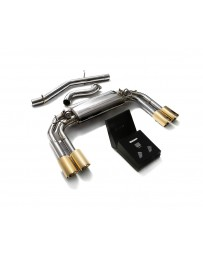 ARMYTRIX Stainless Steel Valvetronic Catback Exhaust System Quad Gold Tips Audi S3 8V Sportback 13-20