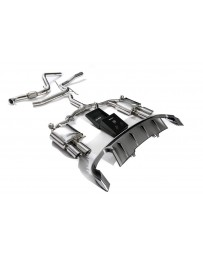 ARMYTRIX Stainless Steel Valvetronic Catback Exhaust System Quad Chrome Silver Tips Audi A4 A4 Avant 2.0L TFSI B9 2016-2020