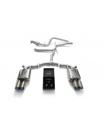 ARMYTRIX Stainless Steel Valvetronic Catback Exhaust System Quad Blue Coated Tips Audi A5 Sportback 2.0 TFSI B9 2016-2020