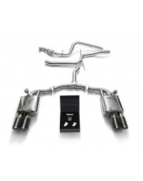 ARMYTRIX Stainless Steel Valvetronic Catback Exhaust System Quad Carbon Tips Audi A5 Sportback 2.0 TFSI B9 2016-2020