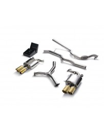 ARMYTRIX Stainless Steel Valvetronic Catback Exhaust System Quad Gold Tips Audi A5 Quattro Sportback 2.0 TFSI B9 16-20