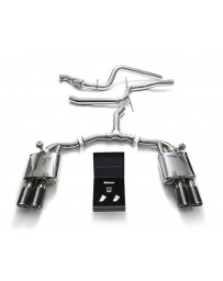 ARMYTRIX Stainless Steel Valvetronic Catback Exhaust System Quad Carbon Tips Audi A5 Quattro Sportback 2.0 TFSI B9 16-20
