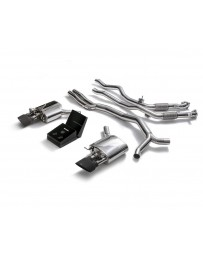 ARMYTRIX Stainless Steel Valvetronic Ceramic Coated Sport Catback Exhaust System w/Dual Matte Black Tips Audi RS5 B9 2D