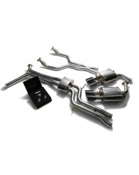 ARMYTRIX Stainless Steel Valvetronic Catback Exhaust System Quad Carbon Tips Audi A6 A7 C7 3.0 TFSI V6 2011-2021
