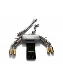 ARMYTRIX Stainless Steel Valvetronic Catback Exhaust System Quad Gold Tips Audi TTS Quattro MK3 8S 2.0 TFSI 2015-2021