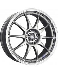 Enkei J10 18x7.5 4x100/114 42mm Offset 72.62mm Bore Dia Matte Silver Paint Wheel