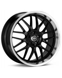 Enkei Lusso 18x8 40mm Offset 5x120 Bolt Pattern Black w/ Machine Lip Wheel