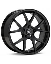 Enkei M52 16x7 45mm Offset 5x100 Bolt Pattern 72.6mm Bore Dia Matte Black Wheel