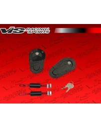 VIS Racing Universal Ac Carbon Fiber Hood Pin With Lock