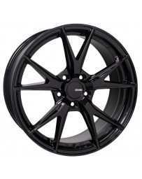 Enkei Phoenix 17x7.5 45mm Offset 5x100 72.6mm Bore Gloss Black Wheel
