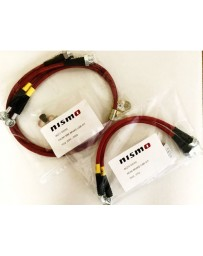 370z Z34 NISMO Performance Braided Stainless Steel Brake Lines, Front