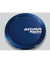 Advan Racing 73mm Full Flat Centercap - Blue Anodized