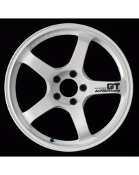 Advan Racing GT 19x10.5 +25 5-114.3 Racing White Wheel