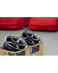 Advan Racing GT 18x10.5 +15 5-114.3 Machining & Racing Metal Black Wheel