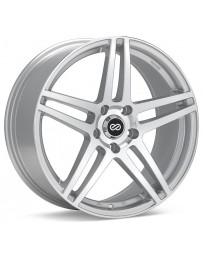Enkei RSF5 18x8 40mm Offset 5x108 Bolt Pattern 72.6mm Bore Dia Silver Machined Wheel