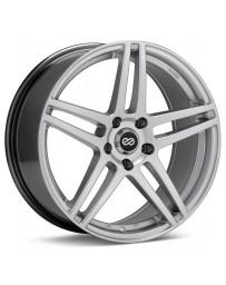 Enkei RSF5 17x7.5 40mm Offset 5x114.3 Bolt Pattern 72.6mm Bore Dia Hyper Silver Wheel