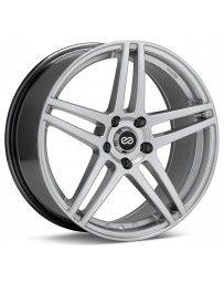 Enkei RSF5 18x8 40mm Offset 5x100 Bolt Pattern 72.6mm Bore Dia Hyper Silver Wheel