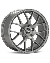 Enkei Raijin 18x8.5 50mm Offset 5x114.3 Bolt Pattern 72.6 Bore Diameter Hyper Silver Wheel