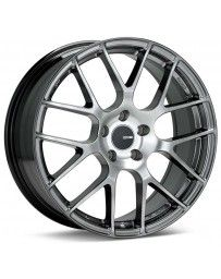 Enkei Raijin 19x8 35mm Offset 5x112 Bolt Pattern 72.6 Bore Dia Hyper Silver Wheel