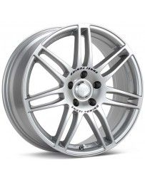 Enkei SC05 18x7.5 40mm Offset 5x108 Bolt Pattern 75mm Bore Dia Silver Wheel