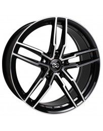 Enkei SS05 18x8.0 5x120 40mm Offset 72.6mm Bore Black Machined Wheel