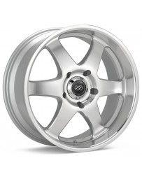 Enkei ST6 17 x 8 35mm Offset 6x139.7 Bolt Pattern 78mm Bore Dia Silver Machined Wheel