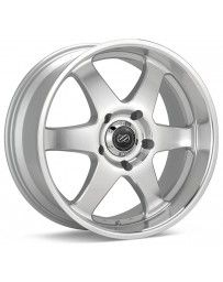 Enkei ST6 18 x 8.5 35mm Offset 6x139.7 Bolt Pattern 78mm Bore Dia Silver Machined Wheel