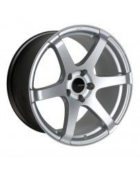 Enkei T6S 18x8 45mm Offset 5x100 Bolt Pattern 72.6 Bore Matte Silver Wheel
