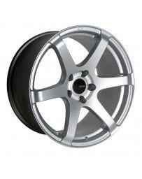 Enkei T6S 18x9.5 45mm Offset 5x100 Bolt Pattern 72.6 Bore Matte Silver Wheel