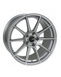 Enkei TS10 18x8.5 45mm Offset 5x100 Bolt Pattern 72.6mm Bore Dia Grey Wheel