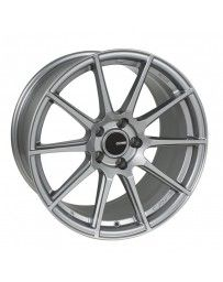 Enkei TS10 18x8 45mm Offset 5x100 Bolt Pattern 72.6mm Bore Dia Grey Wheel