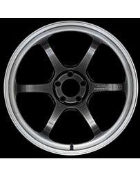 Advan Racing R6 18x7.5 +44 5-112 Machining & Racing Hyper Black Wheel