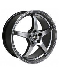 Enkei VR5 18x8 45mm Offset 5x112 Bolt Pattern 72.6 Bore Dia Hyper Black Wheel