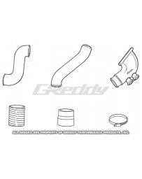 GReddy Aluminum Piping Kit (S) Mazda RX7 1993-96