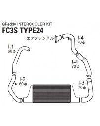 GReddy Spec-LS T-24 Intercooler Kit Mazda RX-7 FC3S 1986-1992