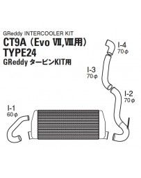 GReddy Spec-LS T-24 Intercooler Kit (g) Mitsubishi VII / VIII 2001-2005
