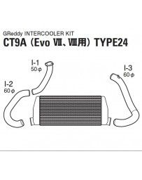 GReddy Spec-LS T-24F Intercooler Kit Mitsubishi VII / VIII 2001-2005