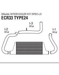 GReddy Type 24F Front Mount Intercooler Kit Nissan Skyline GTR R33 1995-1998