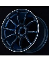 Advan Racing RZ-F2 18x9.5 +12 5-114.3 Racing Titanium Blue and Ring Wheel