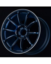 Advan Racing RZ-F2 18x9.5 +29 5-114.3 Racing Titanium Blue and Ring Wheel