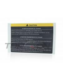 R35 GT-R Nissan OEM Oil Caution Label