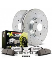 370z Z34 Power Stop 1-Click Street Warrior Z26 Drilled and Slotted Rear Brake Kit