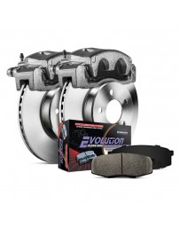 370z Z34 Power Stop 1-Click Autospecialty OE Replacement Plain Rear Brake Kit with Calipers 18-19