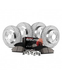 370z Z34 Power Stop 1-Click Z23 Evolution Sport Drilled and Slotted Front and Rear Brake Kit 18-19