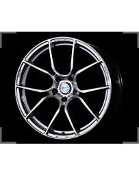 Gram Lights 57ANA 19x8.5 +38 5-114.3 Shining Silver DC Machining Wheel