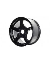 Gram Lights 57CR 18x9.5 +22 5x114.3 Gloss Black Wheel