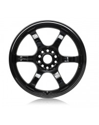 Gram Lights 57CR 18x10.5 +22 5x114.3 Gloss Black Wheel
