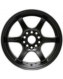 Gram Lights 57DR 15x8.0 +35 5-114.3 Semi Gloss Black Wheel