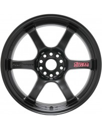 Gram Lights 57DR 17x9.0 +12 5-114.3 Semi Gloss Black Wheel
